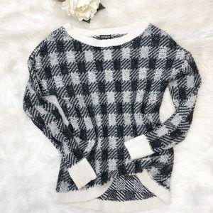 Express Plaid Wool Blend Sweater Sz XS